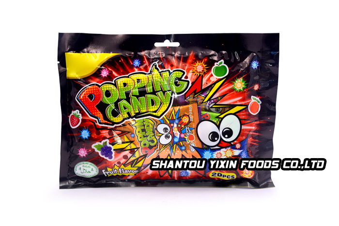 3g halal fruit flavor popping candy in bag