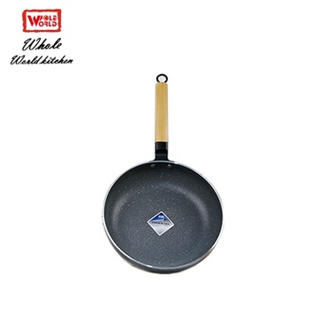 Aluminum non-stick marble coating mini frying pan