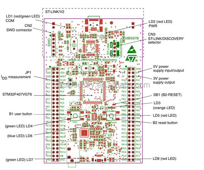 Stm32f4 Discovery Stm32f4-discovery Stm32f407 Cortex-m4 Макетная Плата -  Buy Stm32 Макетная Плата,Stm32f103zet6 Макетная Плата,Stm32f407vgt6  Макетная