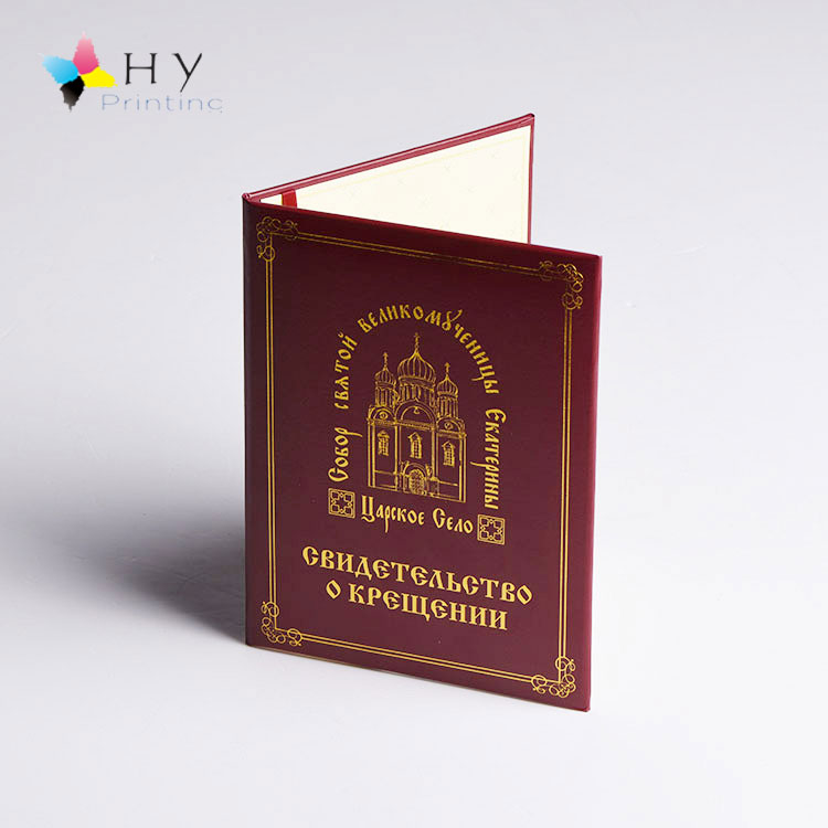 Customize Red A4 Diploma Certificate holder leather paper cover folder