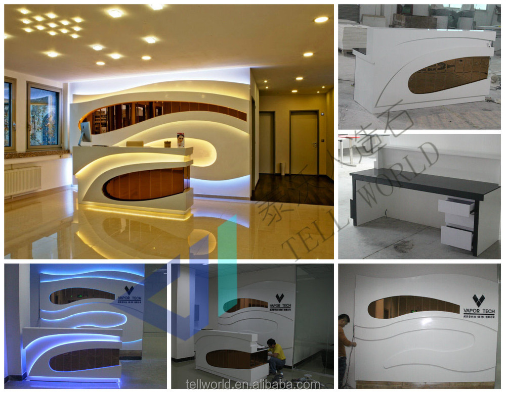 New Shape Of Reception Desk Luxury Hotel