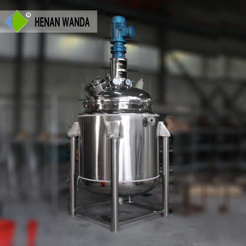 1000L bubble column reactor with jacket heating
