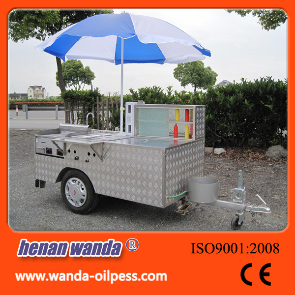 High efficiency mobile food trailer food truck food grilling cart
