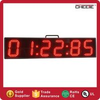 Alibaba Hot Outdoor 6 Inch 6 Digit Remote Control Sports Red Led Clock Stopwatch