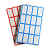 Blue and Red borders Custom Blank label sticker for price tag