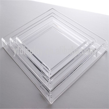 Hot Sale Clear Acrylic Serving Trays Wholesale