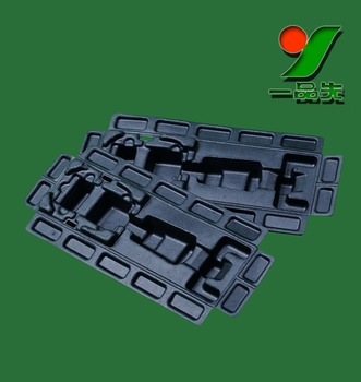 Bulk Sustainable and Biodegradable Wet Pressed Sugarcane Bagasse Molded Fiber Packaging Tray for electronics