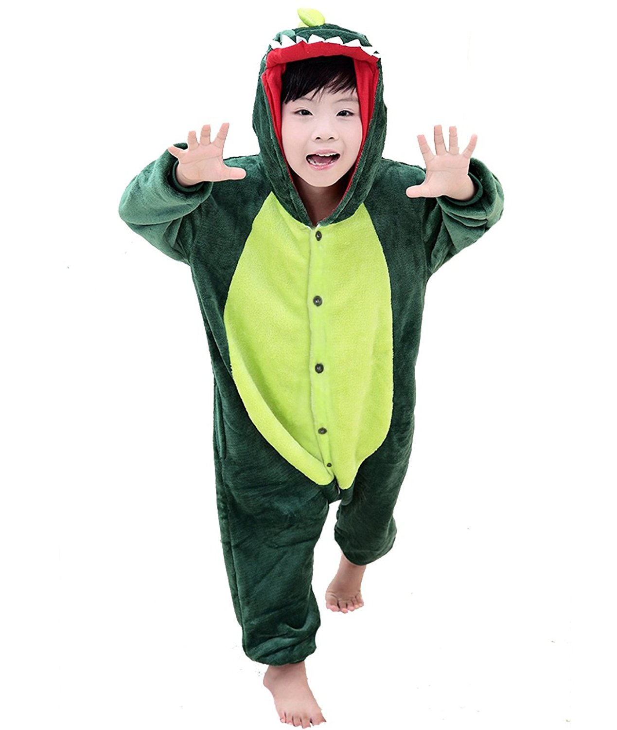 Get Quotations · Duraplast Boy s Funny Sleeping Wear Animal Onesies Pajamas  Costume with Hoodie e301bf16e