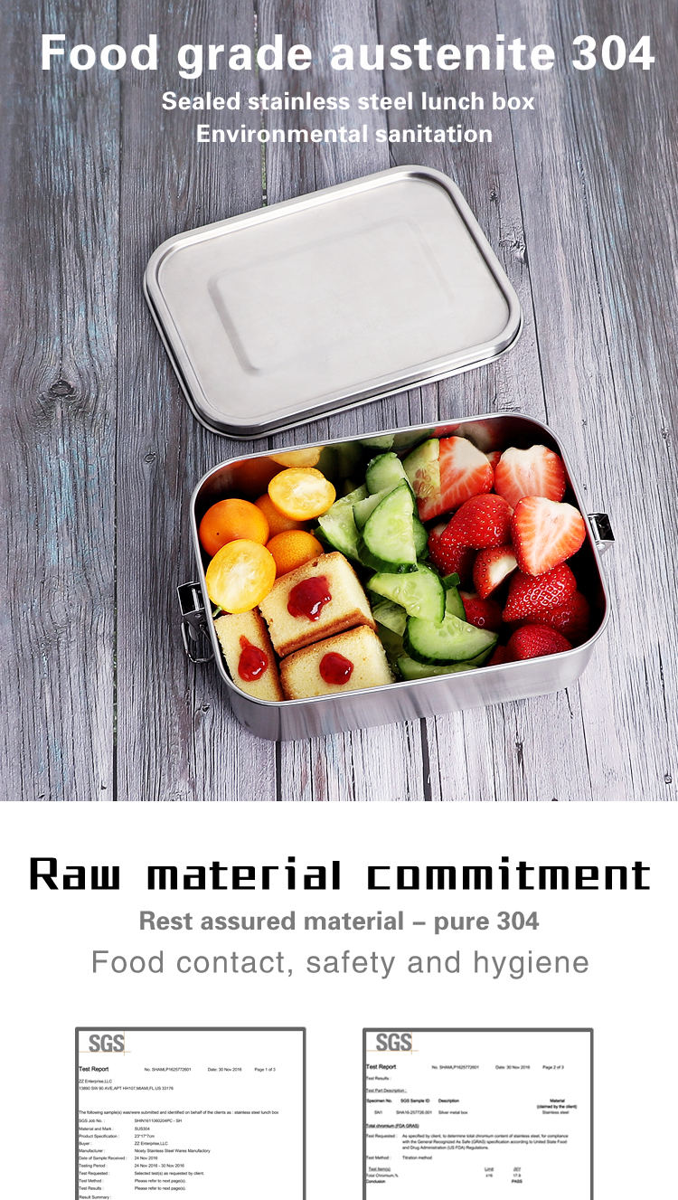 18cm all Stainless Steel Food Container new Design large Holds a Well-Balanced Variety of Foods Eco Lunch Box Dishwasher Safe
