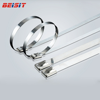 Chinese manufacturer ball type lock stainless steel metal cable ties