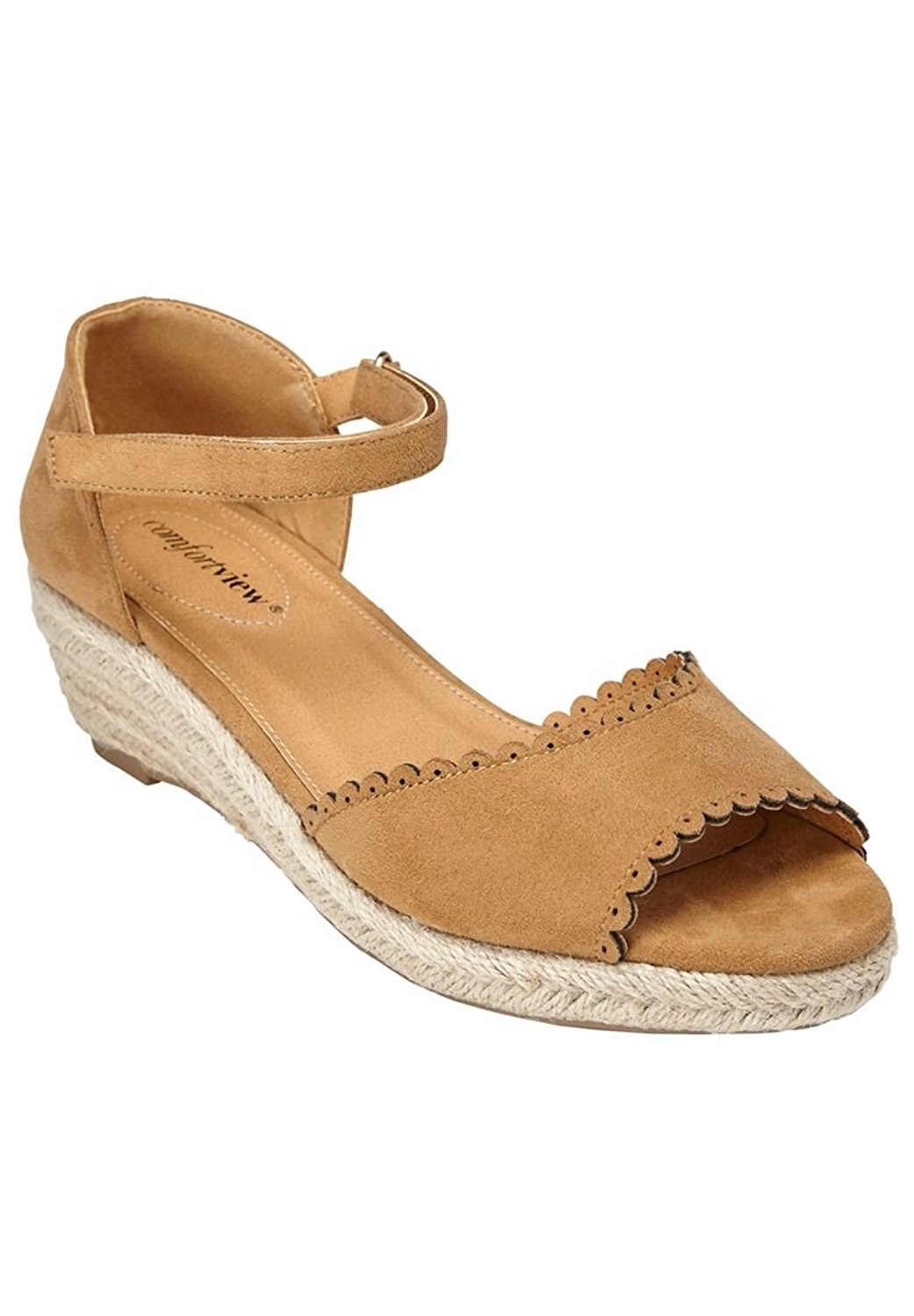 484ab2fdcb9b Get Quotations · Comfortview Women s Wide Charlie Espadrilles