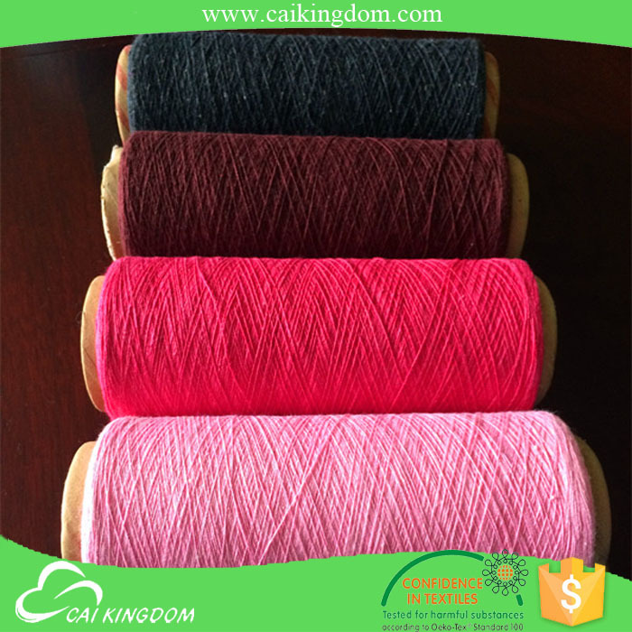 oeko-tex certification sock yarn alibaba recycled cotton cheap yarn dyed fabric in polyester cotton yarns