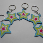 Soft Rubber Keychains 2D Custom Shape Soft Pvc Bottle Keychain Card