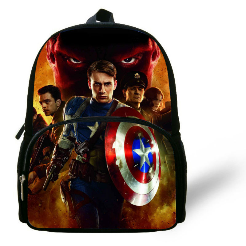 2014 New Arrived Captain America Backpack, Infant Captain America Schoolbag for little boy Gifts nursery school kid Hero Bag