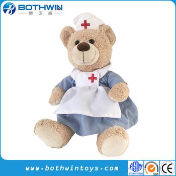 Kustom Berpakaian Dokter Perawat Seragam Keperawatan Boneka Beruang