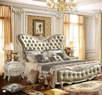 Luxury Royal Bedroom Furniture Set Dubai Bed Furniture Solid Wood ...