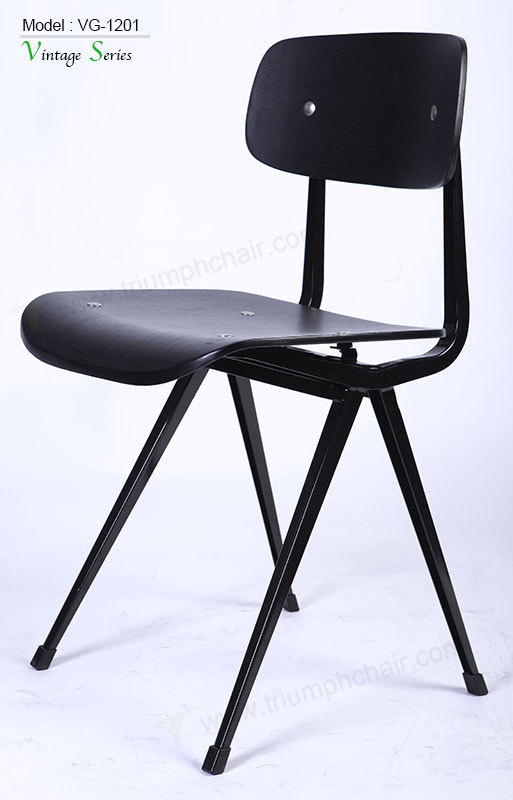 Black Metal Dining Chairs triumph vintage black metal dining chair/ industrial metal cafe