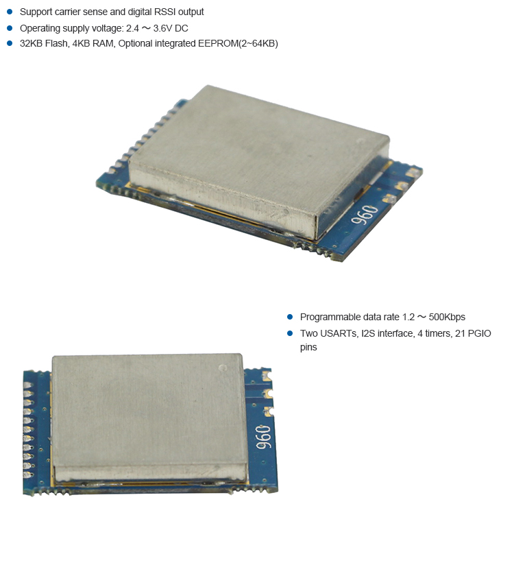 Top Grade CC1110 433Mhz 1000M Wireless Transmitter Module