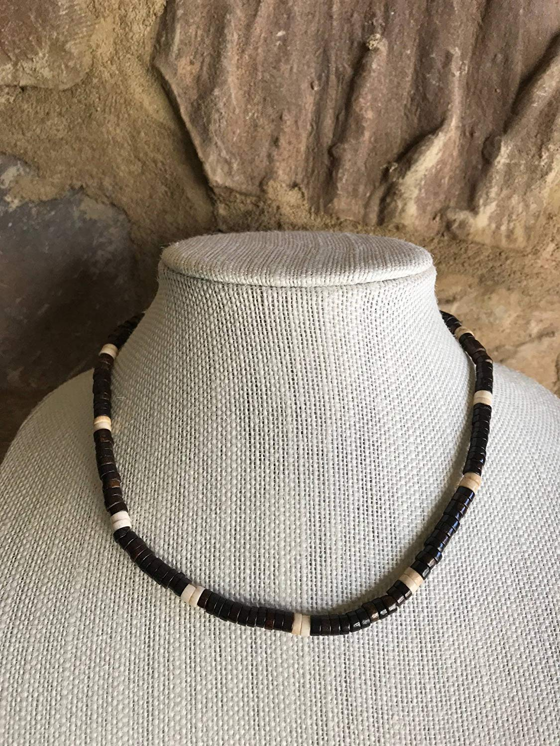 6cb5008178bc2a Get Quotations · Vintage Multicolor Puka Shell Heishi Bead Choker Necklace,  Boho Necklace, Hippie Necklace, Surfer