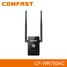 Free shipping Dual Band 2.4G/5.8Ghz 750Mbps COMFAST CF-WR750AC WIFI Router booster wi fi Repeater amplificador Signal repetidor