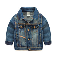 High Quality Children Clothing Wholesale Kids Blue Jean Jacket Of Baby Boys