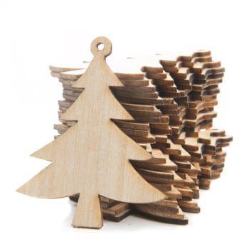 unfinished plywood hanging christmas tree ornaments in real tree shaped for sale