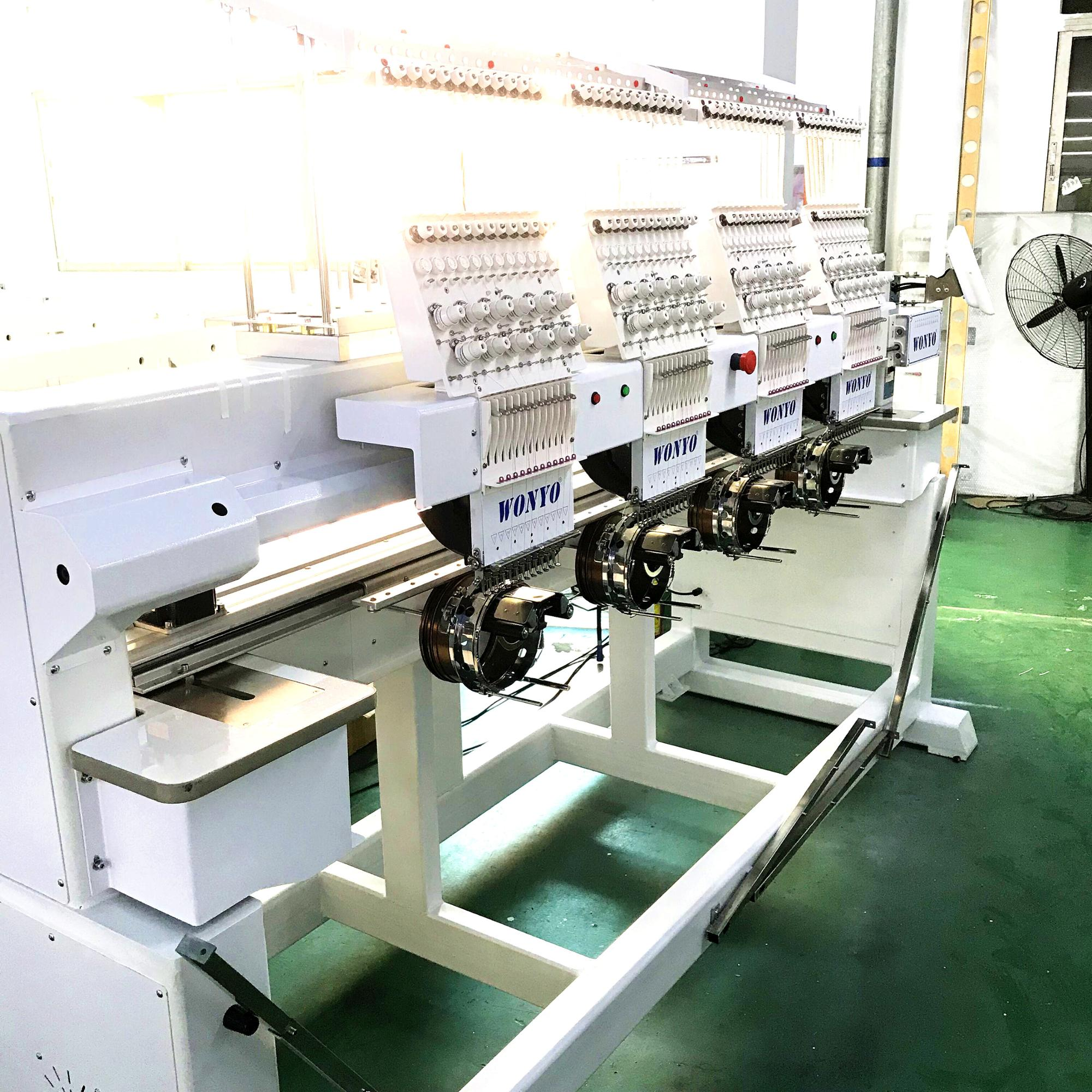 High Speed Tajima 4 Head Embroidery Machine for hats shoes cloth