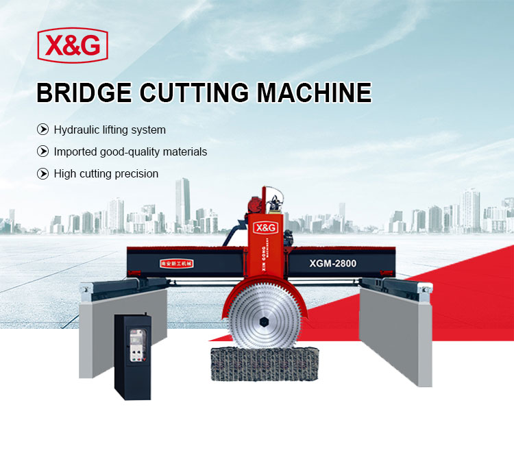 Bridge middle block stone cutter machine