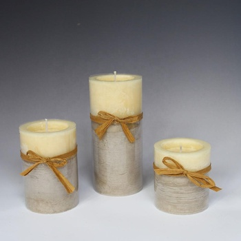 Vanilla Different Sized Pillar Candles For Decoration - Buy