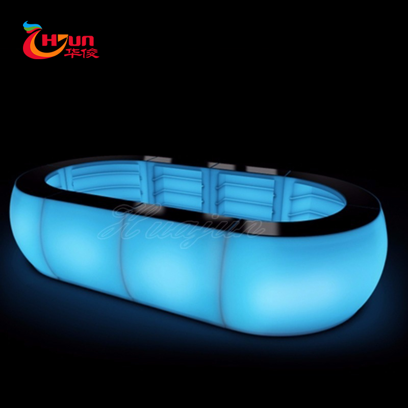 Tragbare licht bar tisch/acryl led cocktail bar tisch