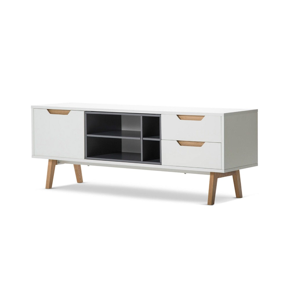 Living Room Furniture White High Glossy MDF TV Showcase Cabinet Wood TV Drawers Table