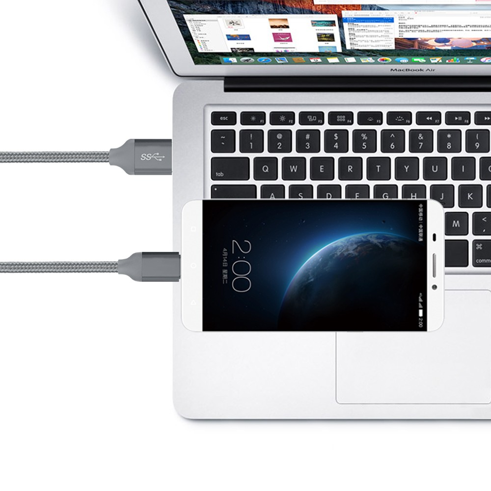 5V 3A USB Type C to USB3.0 cable Fast Charging & Date Sync 5Gbps For MacBook XIAOMI Chomebook 2 Letv Cable