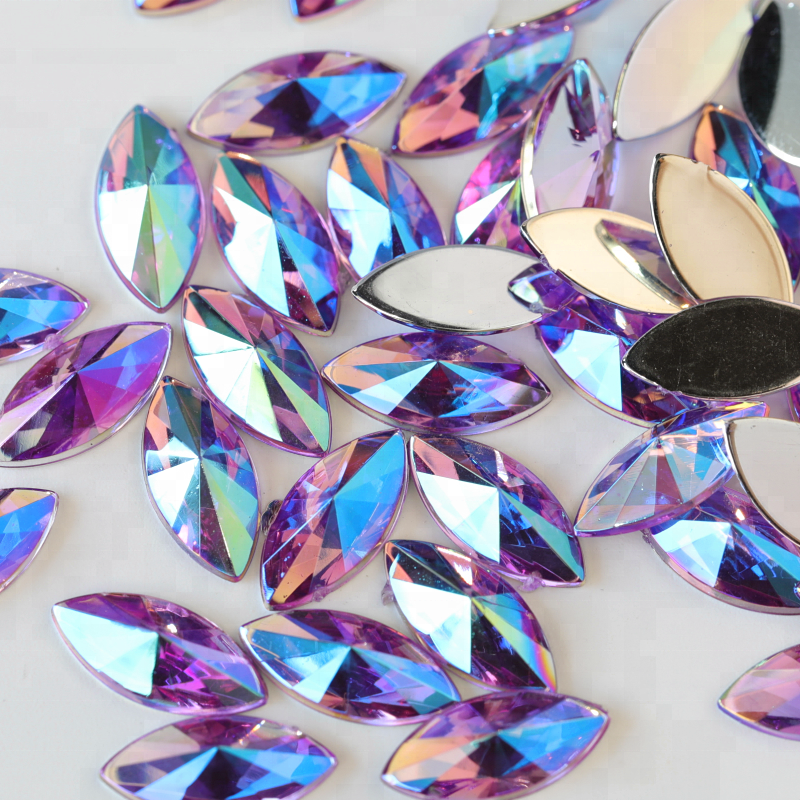 Home & Garden Hot Sale Lead Free 3x11mm Crystal Clear Long Marquise Flat Back Hotfix Rhinestones Iron On Flat Back Crystals Beautiful And Charming Arts,crafts & Sewing
