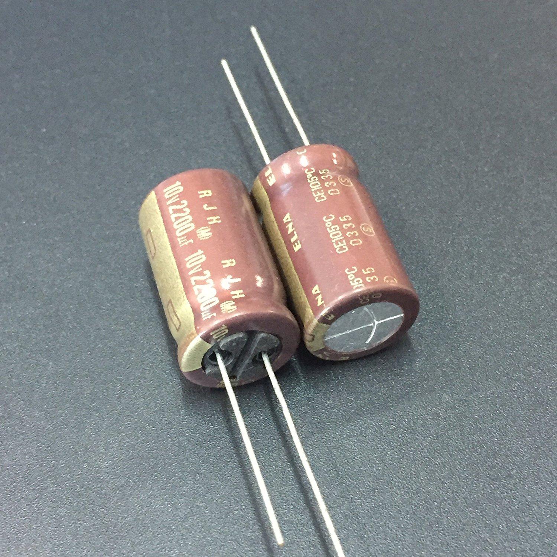 4pcs Elna RJH 2200uF 25v 105c Radial Electrolytic Capacitor Low Impedance