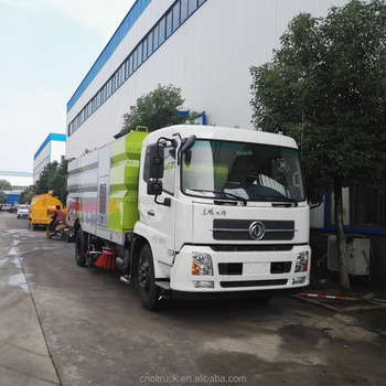 dongfeng tianjin washing road cleaning sweeper truck dustbin street sweeper truck for sale