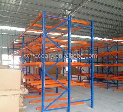 Warehouse Storage Using Selective Pallet Rack and Steel Rack