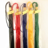 2018/2019/2020/2021 China Manufacturers Wholesale Cheap Customized 40cm Polyester Graduation Cap Tassel