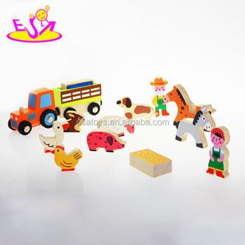 pr scolaire ducatifs ferme set jouets pour les enfants pas cher ferme en bois mis en jouets. Black Bedroom Furniture Sets. Home Design Ideas