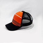 Summer Custom 6 Panel Mesh Fabric Breathable Trucker Hat and Baseball Cap Flat Embroidery Sports Hat