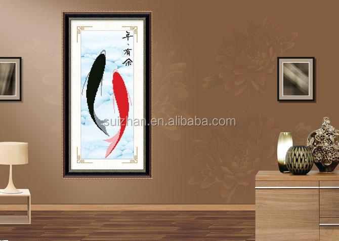 Schilderkunst en kalligrafie voor eetkamer decoratie muur stok d