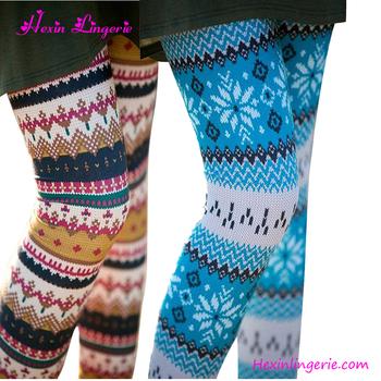 wholesale new mix slimming ethnic style winter printed women christmas leggings