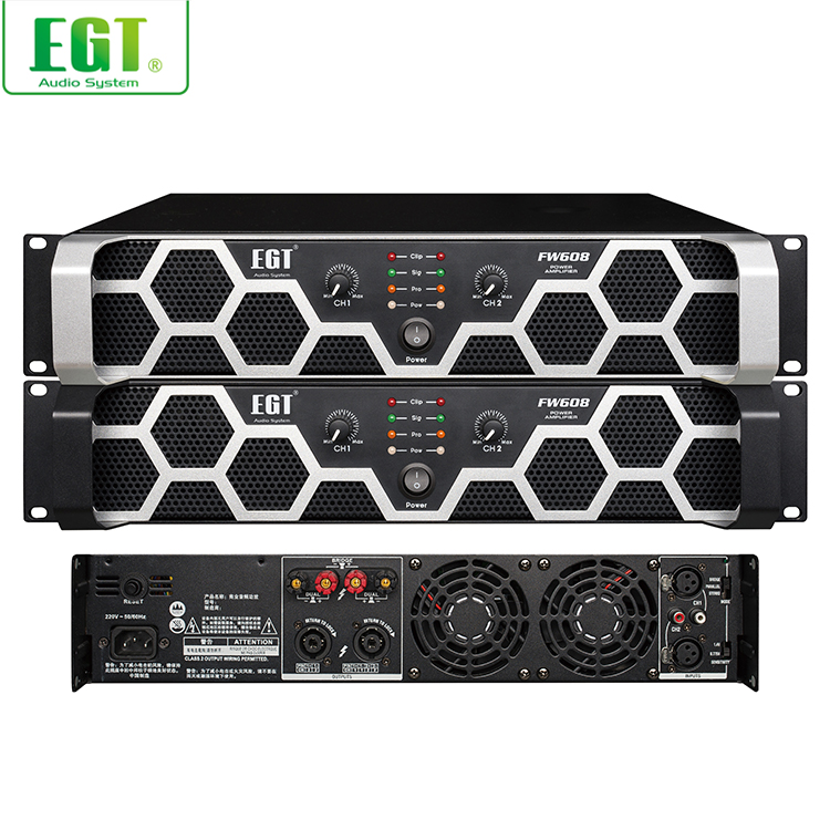 High quality professional power best sound 600W FW amplifier for sale