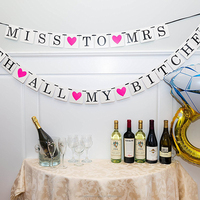 Miss To Mrs Classy & Sassy Bachelorette Party Banner/Hen Party Banner