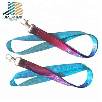 High quality colorful sports medal grosgrain satin ribbon custom Lanyard