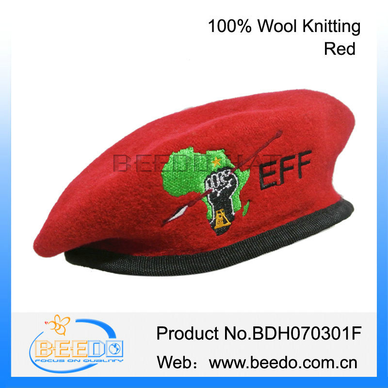 09be3416 100% Wool Ladies Blank Military Beret With Embroidery Pattern - Buy ...