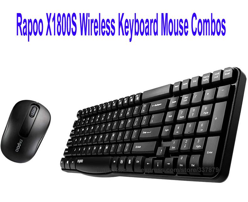 Rapoo 2 4G USB Wireless Keyboard Mouse Combo Mute Mice Waterproof Keypad  Kit Set Fn Multimedia keys for Windows Computer X1800S
