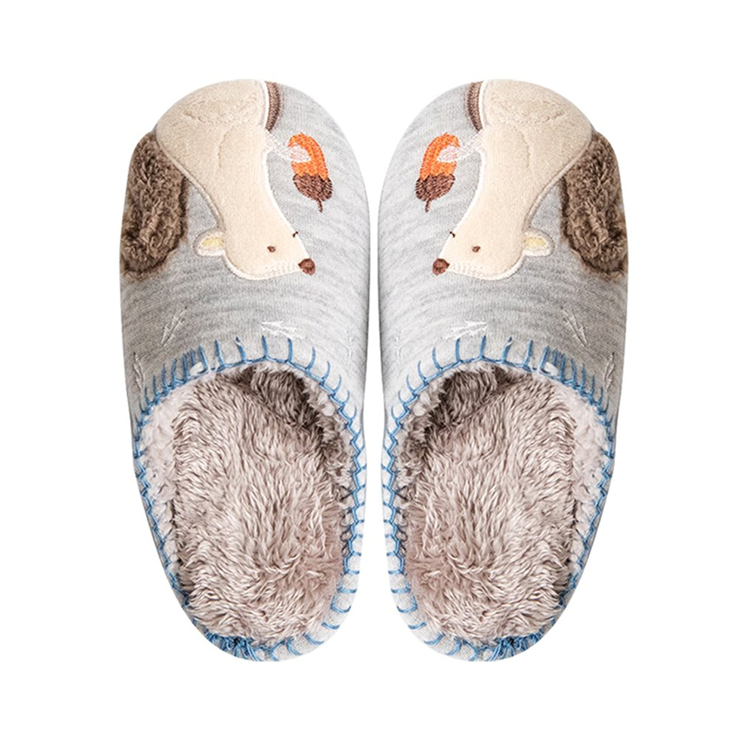 7129f4237f5 Get Quotations · Colias Wing Cuddly Squirrel Pattern Design Winter Soft  Cozy Warm Fleece Slippers House Slippers Warm Winter