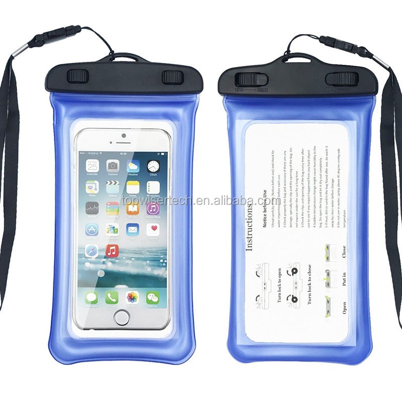 2019 Reliable Quality Inflatable Mobile Phone Waterproof Bag for Surfing