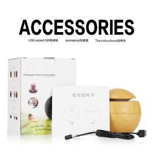 decorative humidifier mist maker 130ML Light Wood Aroma Diffuser DC 5V Ultrasonic Humidifier