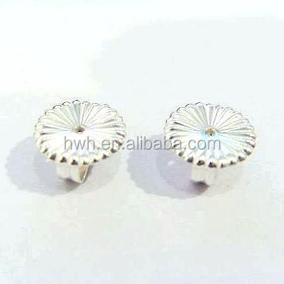 H555/7.5mm Silver Flower Stud Earring Clutch Factory Supplier